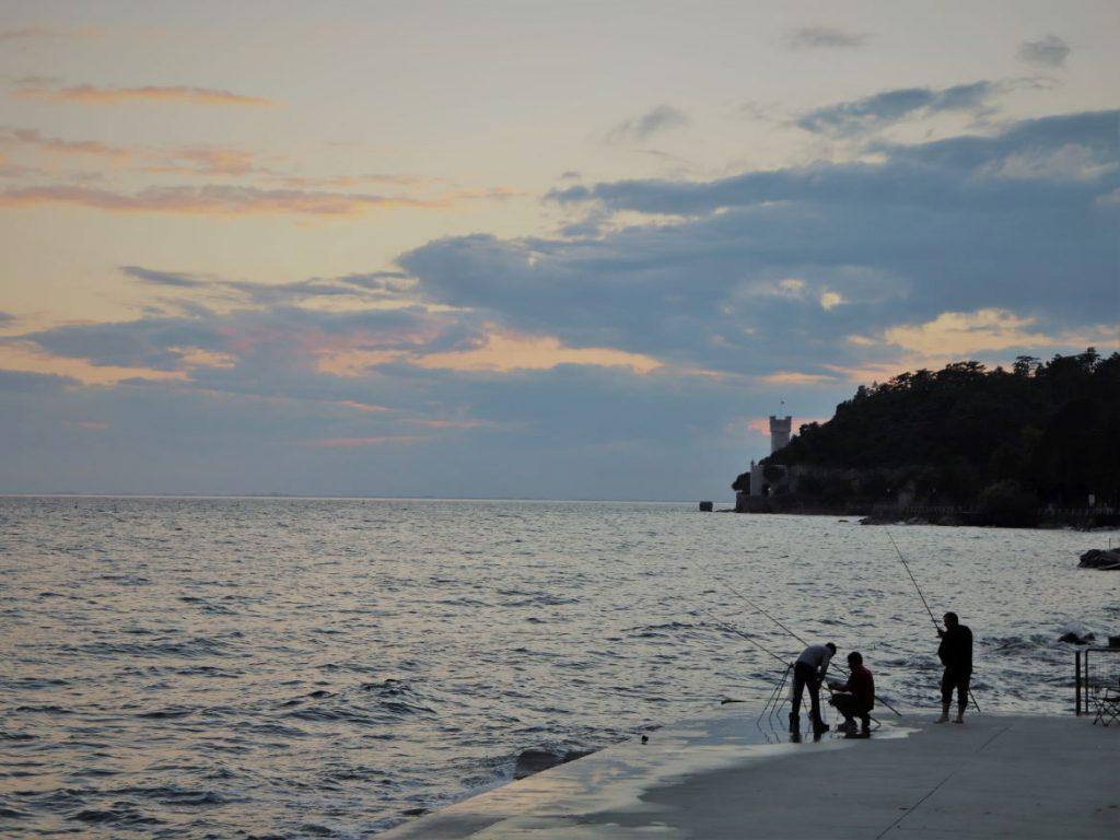 Trieste, Aussicht auf das Schloss Miramare