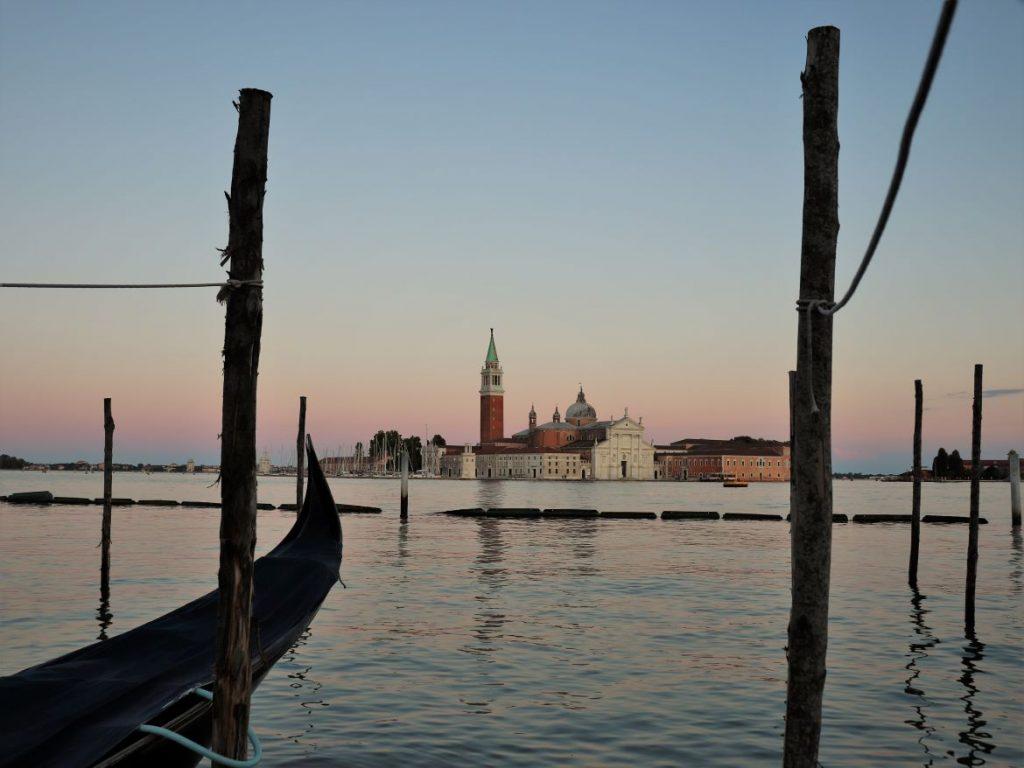 Venedig, San Giorgio Insel am Sonnenuntergang